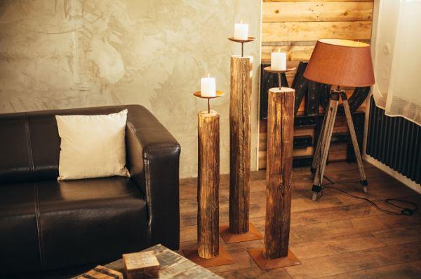 Kerzenständer-Holz