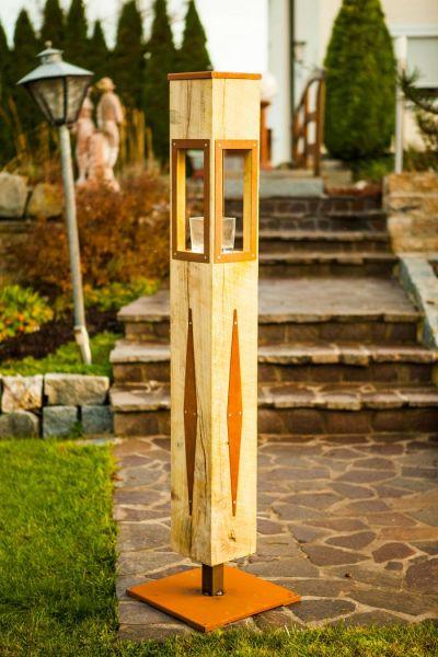 Holzlaterne-- Modern
