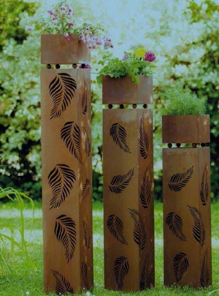 """Säulen Set """" Blatt im Wind """""""