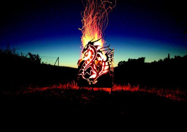 Feuerkorb Drachentopf