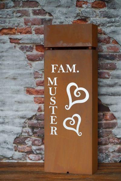 "Säule "" Name und Hausnummer"